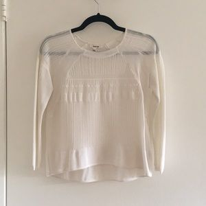 Helmet Lang White Knit Sweater